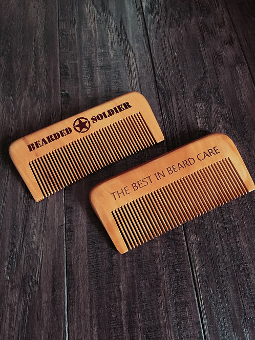 Bearded Soldier Engraved Beard Comb