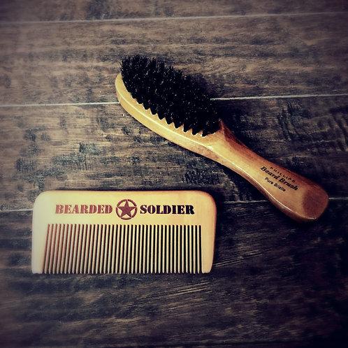 Beard Brush / Beard Comb Combo