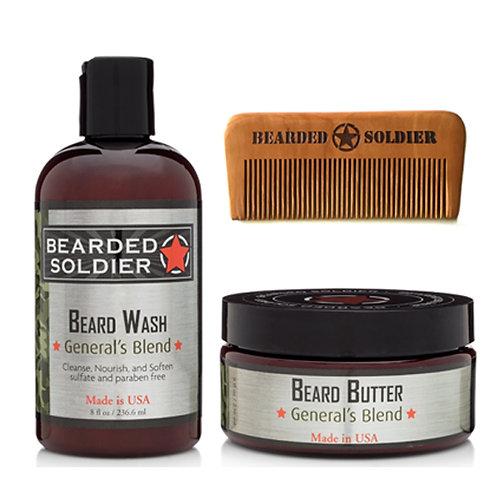 8 oz Beard Butter & Beard Wash w/ Beard Comb