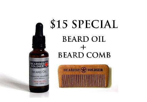 Beard Oil plus Beard Comb Special