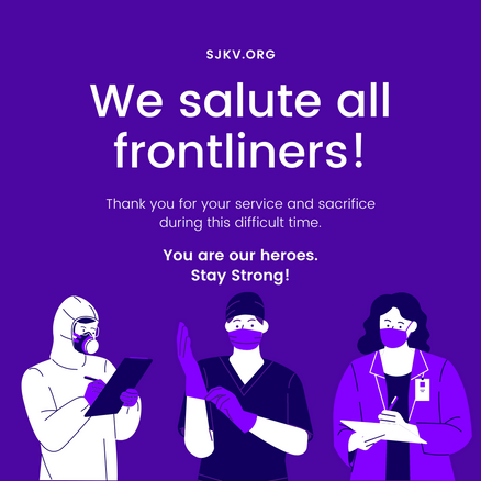 We Salute All Frontliners!