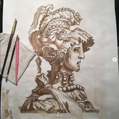 Walnut Ink on Paper, 2018