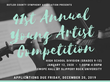 Applications available for 41st Young Artist Competition (High School Division)