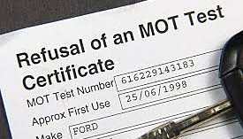Mot failure and the wheel nut is missing!