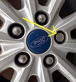 Ford Security Nut Typically Fitted to Vehicle Post > 2013