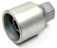 VW wheel nut key
