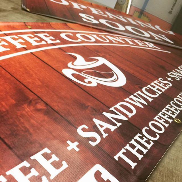 A couple of banners printed this morning