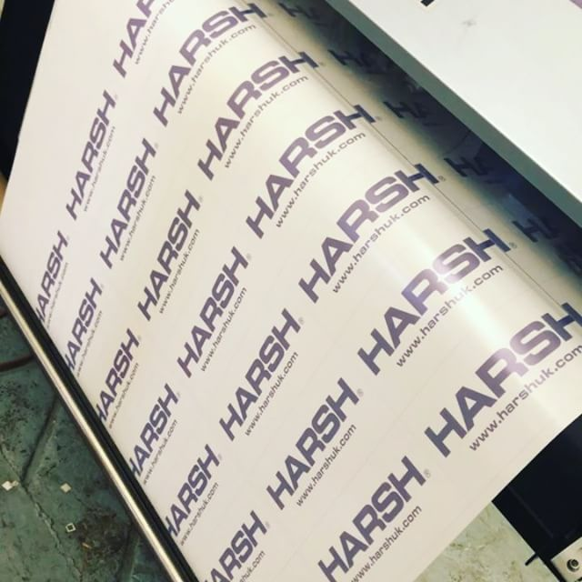 Tarpaulin Labels being printed #Mimaki #
