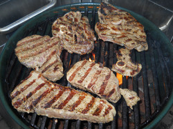 grilled steak and lamb