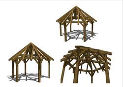18 x 18 Hex Roof