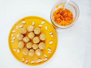 Dattel-Erdnuss-Kugeln mit fermentieren Karotten