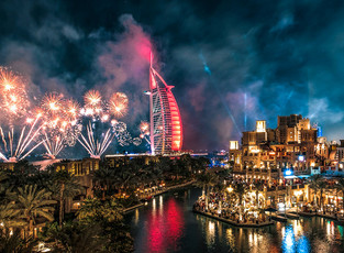 Дубай - международные рождественские вечеринки