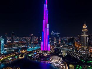 Работы современных художников будут проецировать на самое высокое здание в мире