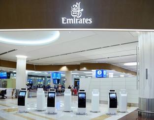 Эмирейтс представила бесконтактные киоски для самостоятельной регистрации