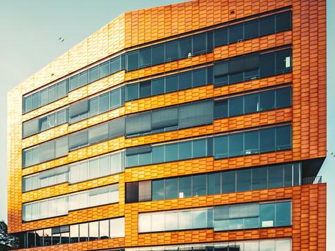 Orange Reflektionen
