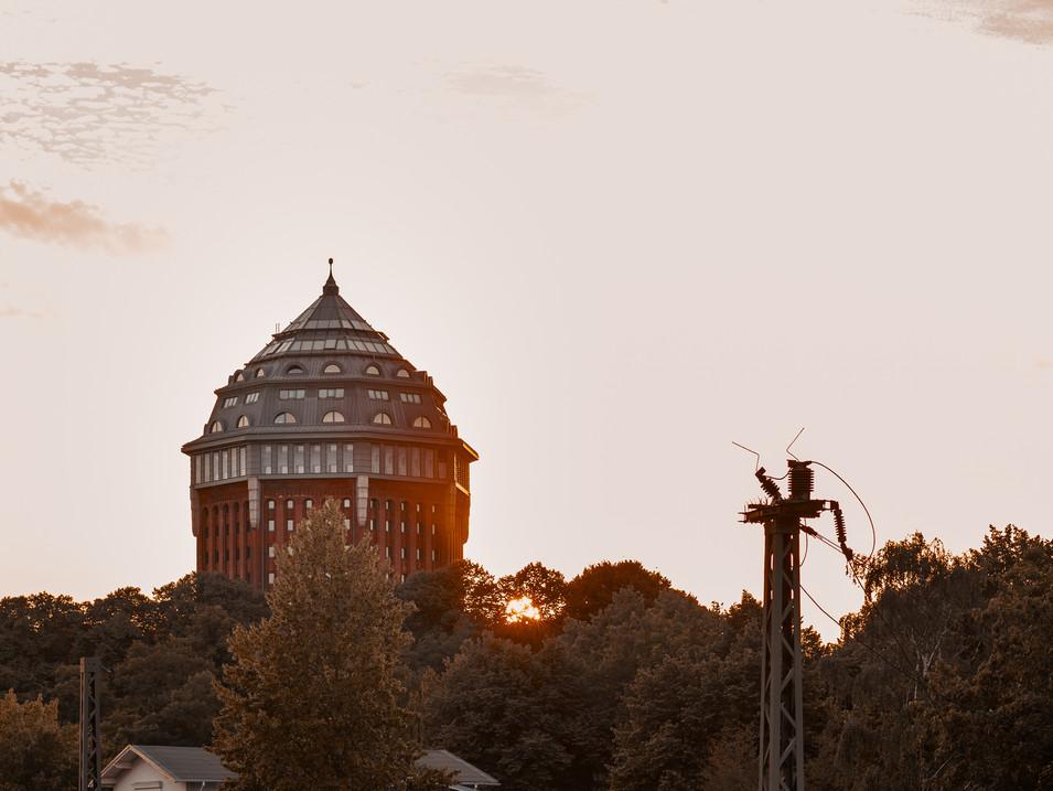 Wasserturm in der Abendsonne