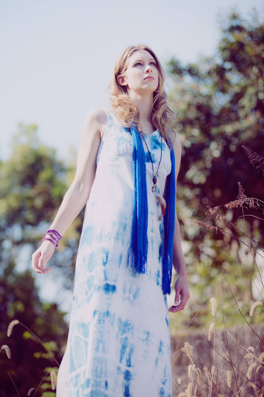 コットンロングドレス
