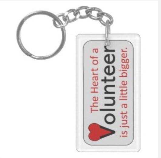 Volunteer Heart Key Chain
