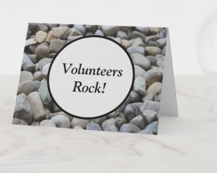 Volunteers Rock Card