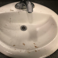 Sink Before Cleaned