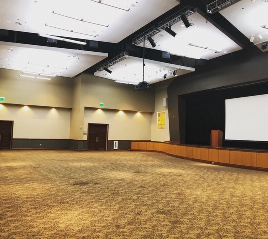 Conference room cleaned and vacuumed after huge event.