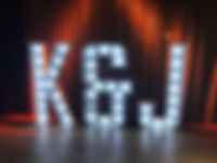 K & J light up letters