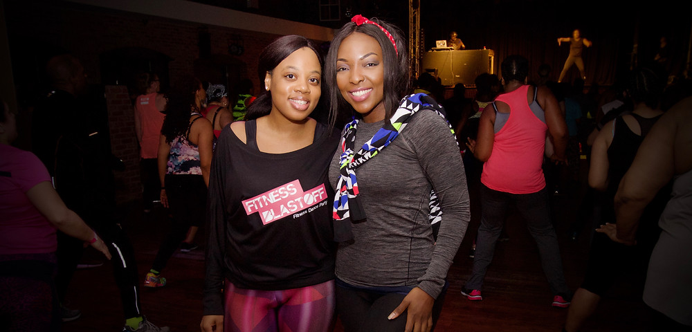 Fitness Blastoff Founder, Selena Brown, with Fitness Blogger Joy Ogude