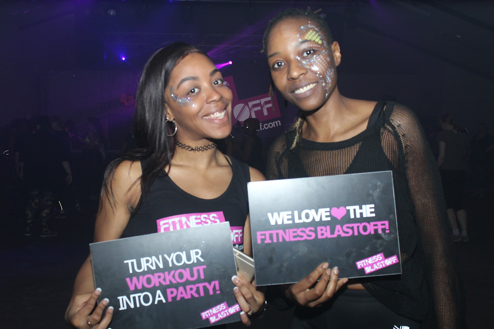Iyesha Jackson (left) with another attendee