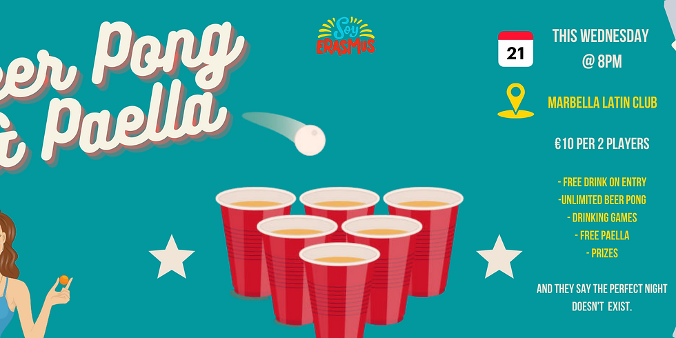 SOLD OUT Beer Pong & Free Paella