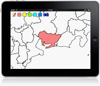 自由に白地図を色塗りできる無料iPadアプリ「iMapPaint」9月リリース予定