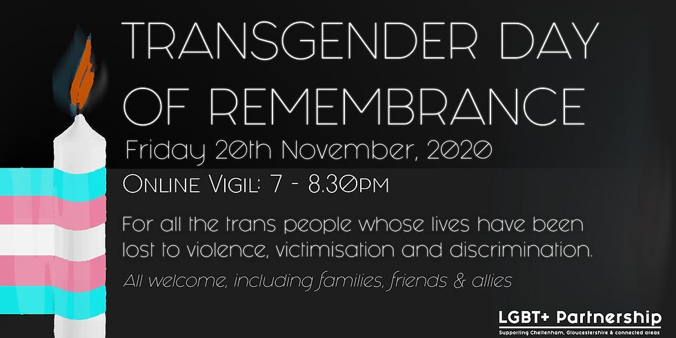 Trans Day of Remembrance - Online Vigil