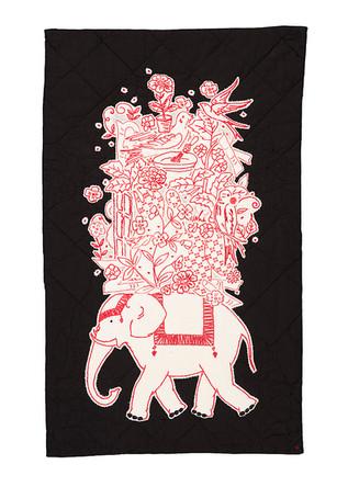 Packing for Wonderland: Redwork Elephant