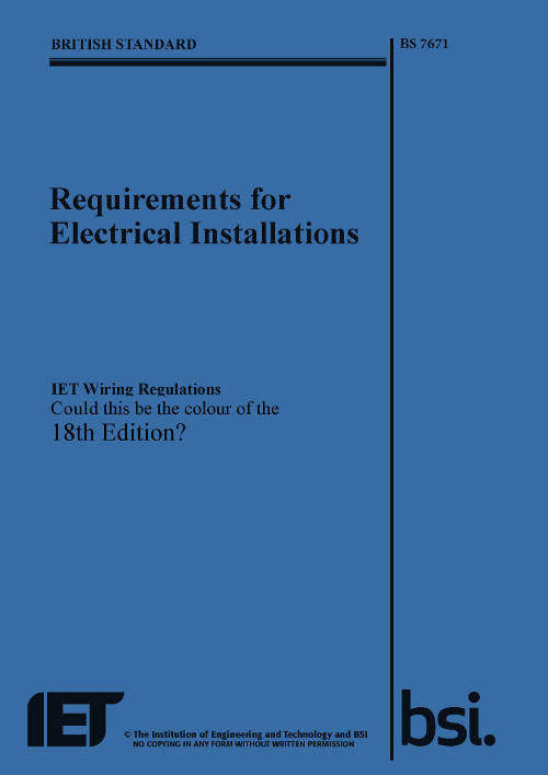 Electrical Regulations Changing Again!
