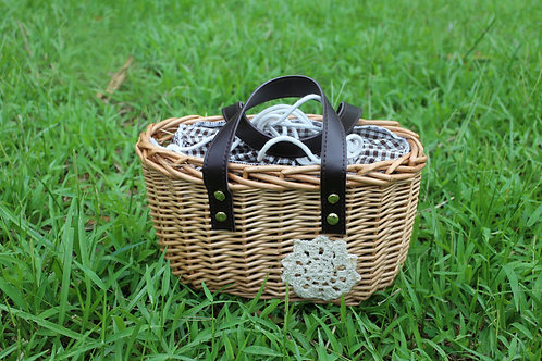 野餐風束口袋提籃