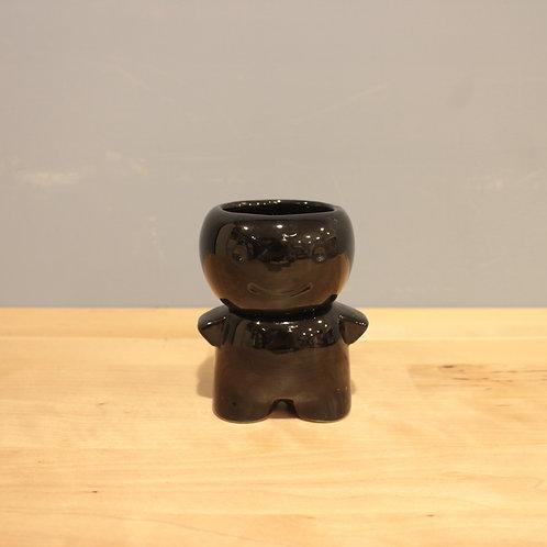 黑色小玩偶造型花器
