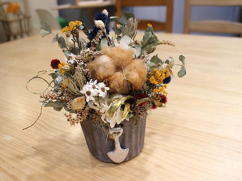 工業風乾燥小盆花