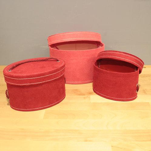 紅色絨布禮物盒(有三種尺寸)