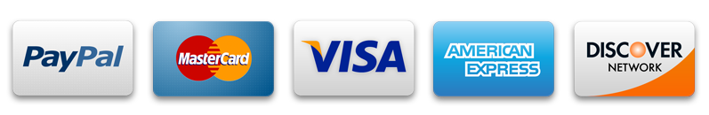 The Pitch Hopper Accepts Discover, Visa, Mastercard, Amerian Express, Paypal