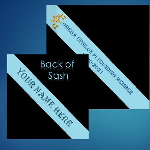 NAME PERSONALIZATION OF YOUR- Omega Upsilon Pi Founders Sash
