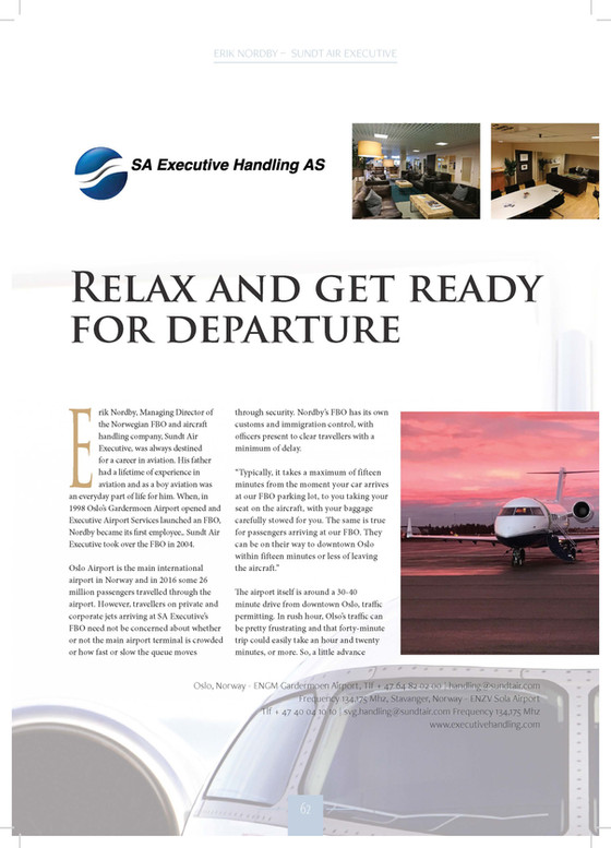 Feature in Business Airport Int'l Magazine