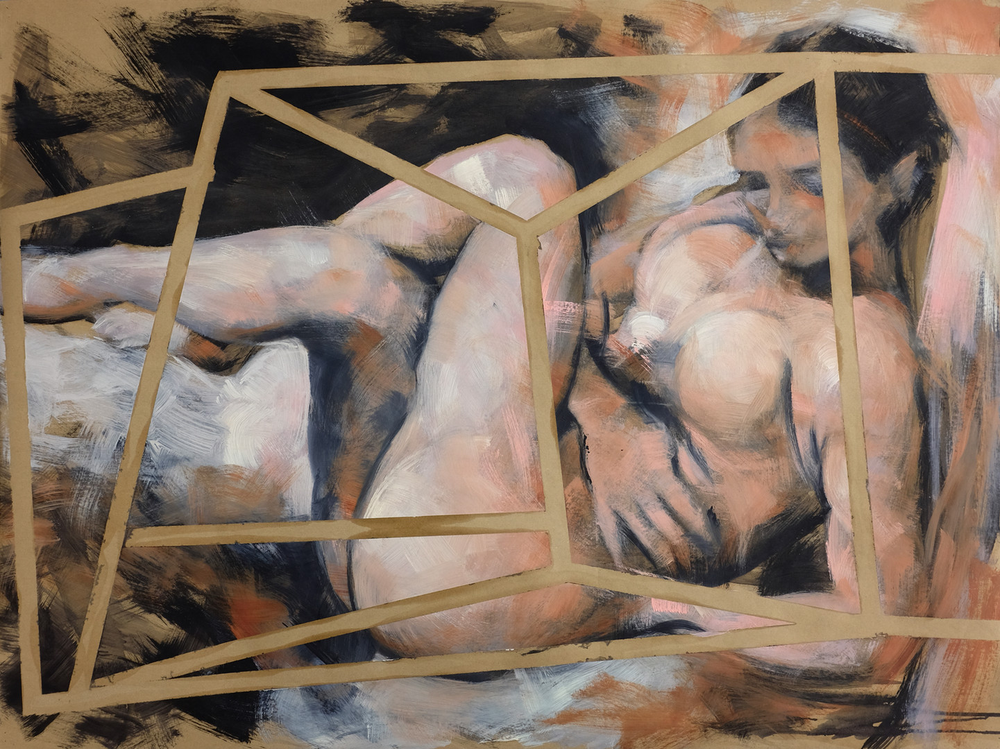 Nude22 35x47 inches Acrylic & Oils on paper 2016