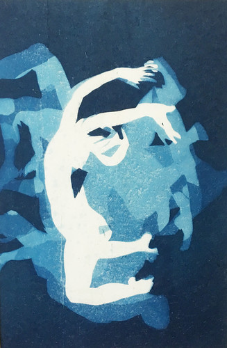 Han Qin, Disorder as of Drinking Sweet Wine 6, cyanotype on paper, 10x 6 ½ inches