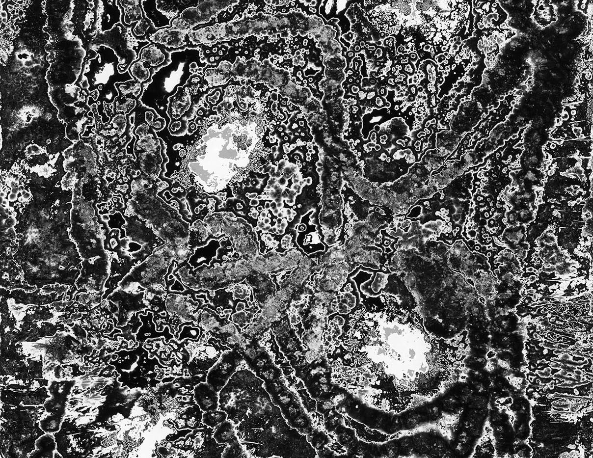 Judyta Grudzien Untitled #2 unique silver gelatin chemigram on fiber paper 8 x 10 inches 2017