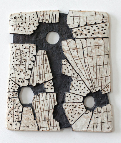 Memory of . . . for SB, 2013 10 x 11 x 0.25 inches, high fired clay pigmented with engobes