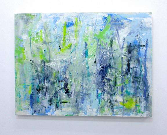 SALLIE STRAND Clarity of Rain, 2020  Acrylic on canvas, 42 x 35 in. (Courtesy Lichtundfire)