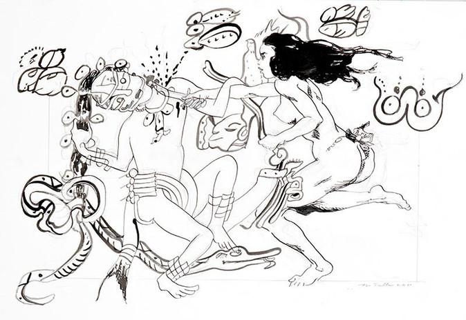 "Title – Desagravio  Date - 2020 Medium:  Pencil  and ink on paper  Size:  11"" x 17""  Photo:  Fantini"