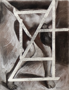 Nude16 22x17 inches Pastel  charcoal on paper 2017
