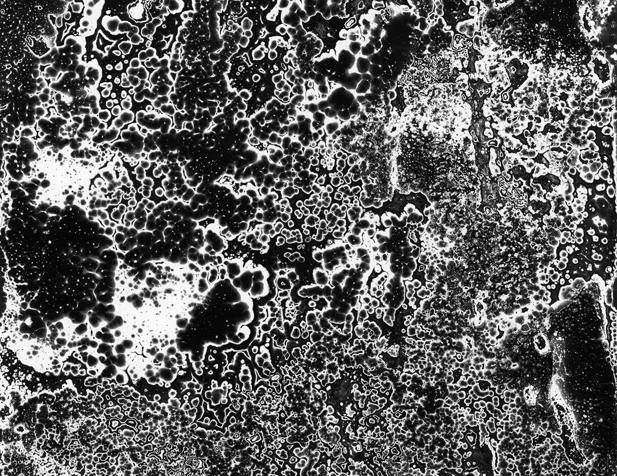 Judyta Grudzien Untitled #1 unique silver gelatin chemigram on fiber paper 8 x 10 inches 2017