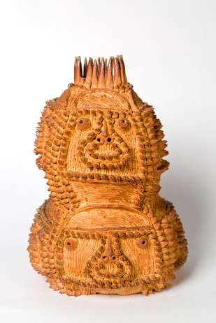 Shinichi Sawada Untitled (128), 2010 Wood fired ceramic 11 3/4 x 7 7/8 x 7 7/8 in