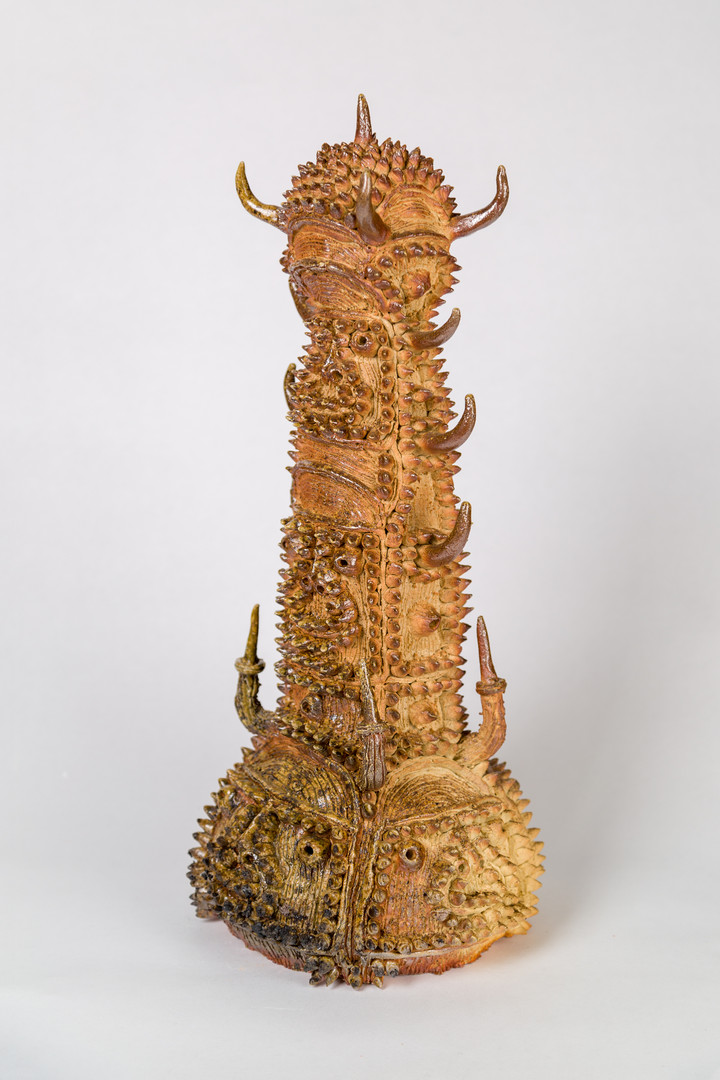 Shinichi Sawada Untitled (124), 2006-2010 Wood fired ceramic 17 3/4 x 8 5/8 x 7 7/8 in
